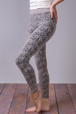 M. Rena Lace Jacquard Leggings