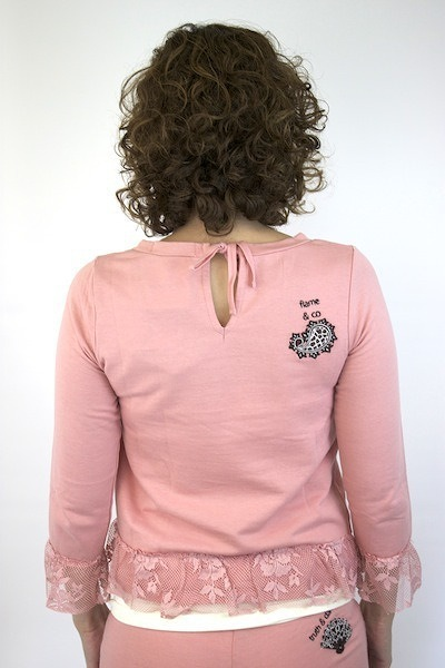 Odd Molly Dusty Pink Fleece Sweater 3