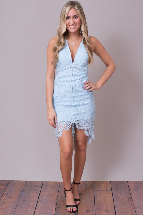 ASTR The Label Sky Blue Caroline Dress