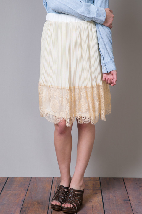 Hazel Lacey Pleat Skirt