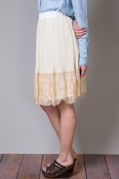 Hazel Lacey Pleat Skirt 3