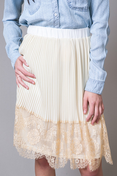 Hazel Lacey Pleat Skirt 4