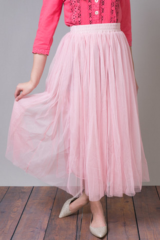O2 Collection Pink Tulle Skirt