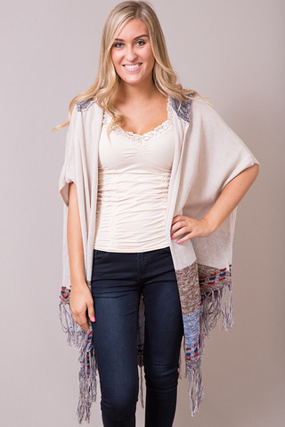 Elan International Denim and Stitch Cardi