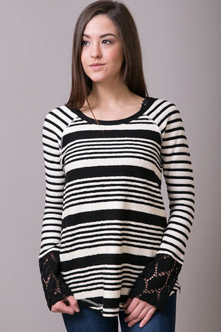 Mystree Side Zip Multi Stripe