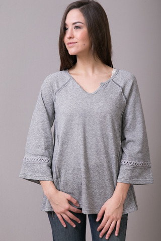 Mystree Wide Sleeve Sweatshirt