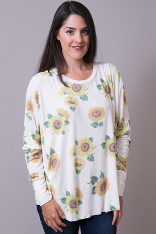 WILDFOX Couture Contempo Sunflower Long Sleeve