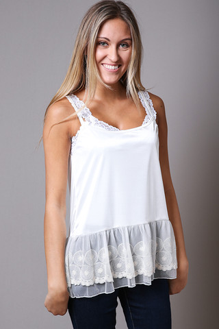 O2 Collection Lace Layering Tank