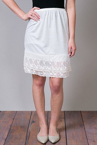 O2 Collection Lacey Layer Slip Skirt