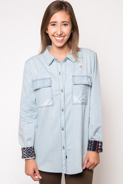 Rails Brady Distress Denim Shirt