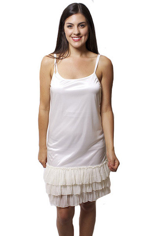 O2 Collection Ivory Tissue Ruffle Slip