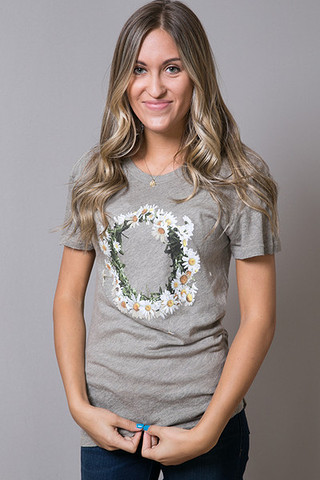 WILDFOX Couture Flower Wreath Tee