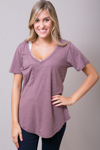 Z Supply The Pocket Tee Mauve