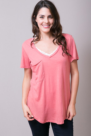 Z Supply The Pocket Tee Sienna