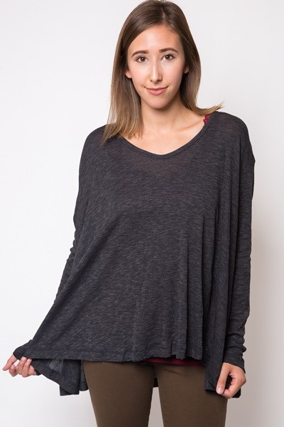 Elan International Hi-Lo Flair Tunic