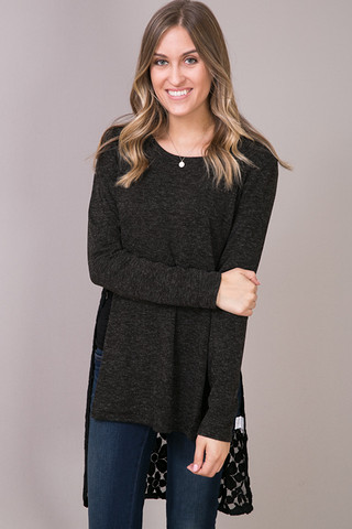 Hazel Black Knit Top