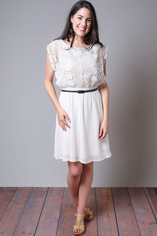 Mystree Lace Panel Dress