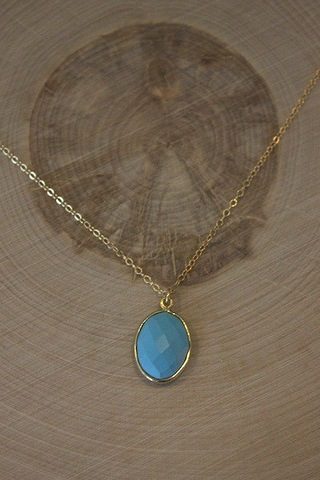 Vermeil Oval Turquoise..