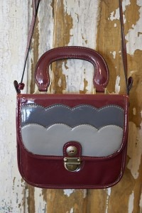 The Whitney Handbag Burgandy Mix