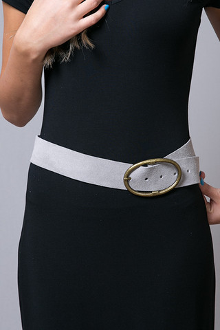 Rachel Pally Grey Suede Belt
