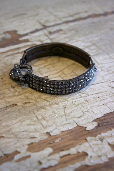 Black diamond toggle bracelet rebel designs for Rebel designs jewelry sale