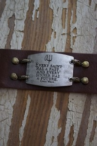 Every Saint Brown Leather Wrap Bracelet