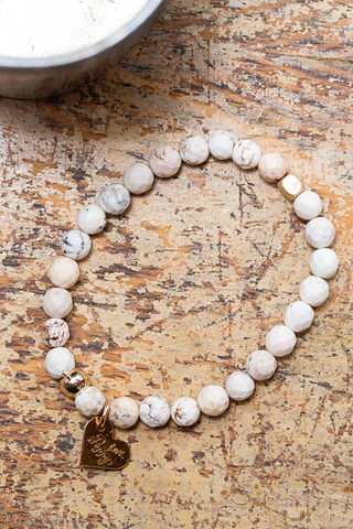 Love Poppy Jewels Howlite Beaded Bracelet
