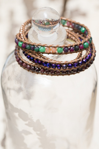 The Lizou Collection Grape Wrap Bracelet