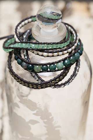 The Lizou Collection Mint Wrap Bracelet