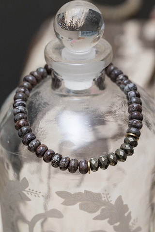 The Lizou Collection Picture Jasper and Hematite Bracelet
