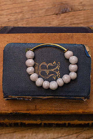 Port-Au Prince Beige Beaded Bracelet