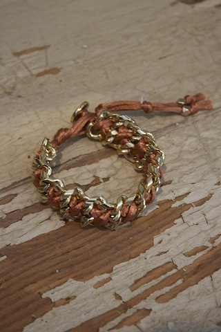 Ettika Burnt Peach Side by Side Bracelet