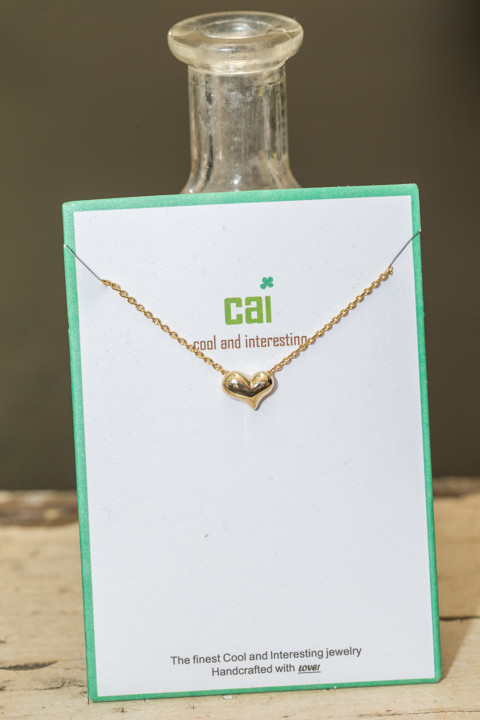 CAI Gold Heart Necklace