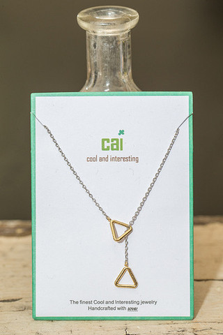 CAI Double Triangle Necklace