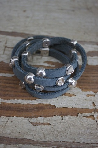 Heet Chambray Stone Glass Wrap