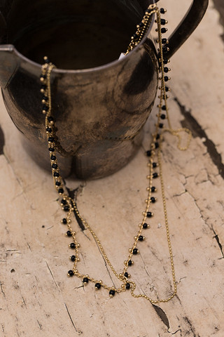 Five And Two Clementine Black Necklace