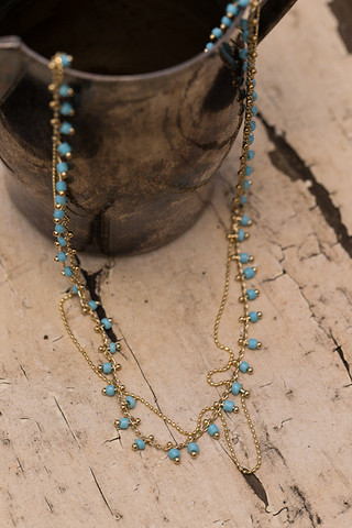 Five And Two Clementine Turquoise Necklace