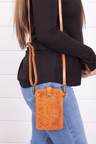 Rio Tooled Phone Bag C..