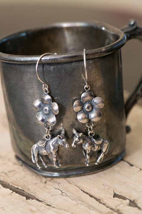 Donkey Silver Earrings