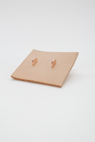 Curious Creatures 3D Crescent Studs Rose Gold