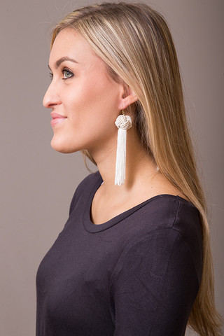 Vanessa Mooney Ivory Tassel Earring