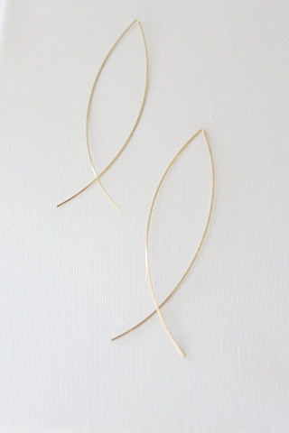 Katie Waltman Elongated Gold Earring