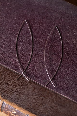 Katie Waltman Elongated Silver Earring