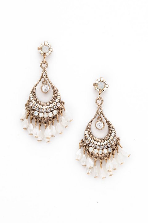 Lovers Tempo Coco Beaded Chandelier Earrings