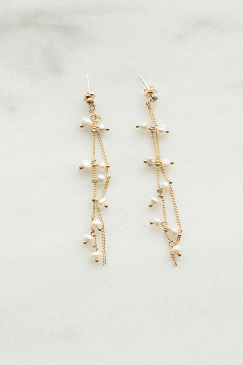 Lovers Tempo Dot Pearl Earrings