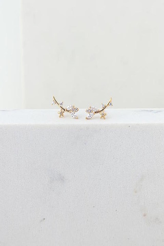 Lovers Tempo Eden Climber Gold Earrings