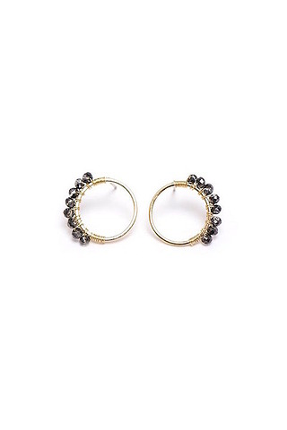 Lovers Tempo Helios Black Earrings