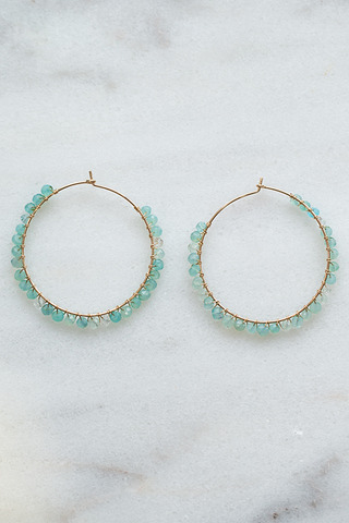 Nashelle Cascade Hoop Earrings