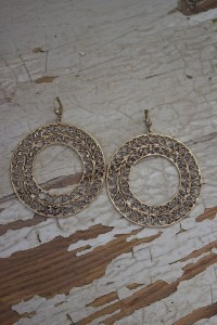 Round Filigree Earrings