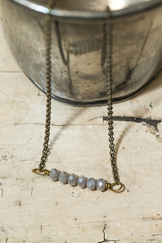 Silver Small Beaded Necklace